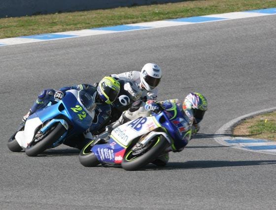 Entrenamiento de 125 y 250 en Jerez