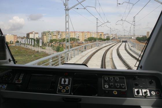 Visita a las obras de la línea 1