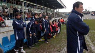 Braojos, en los momentos previos al partido.  Foto: La Otra Foto