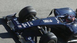 Kazuki Nakajima también efectuó un simulacro de carrera con su Williams.  Foto: J. C. Toro