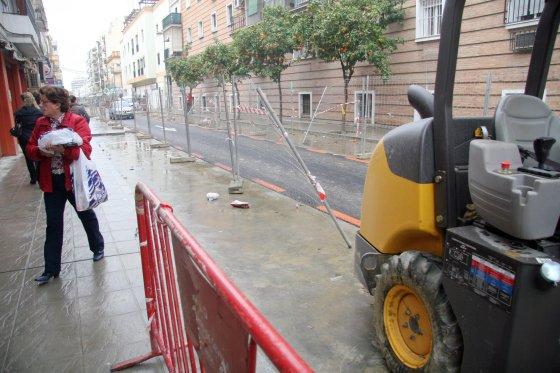 La calle Niebla sufre remodelaciones.  Foto: Belén Vargas