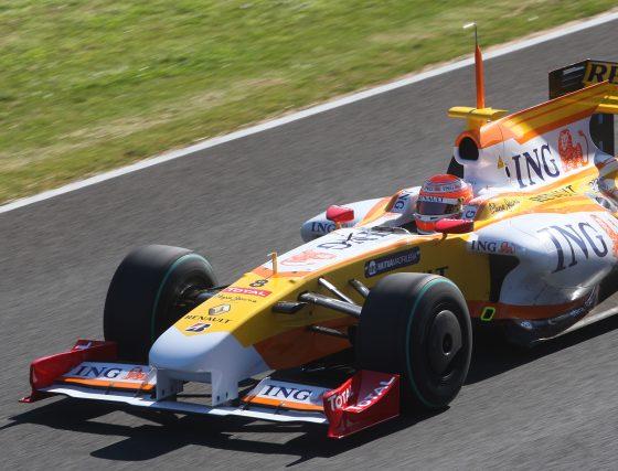 Piquet, que rodó unas cincuenta vueltas, se detuvo en la curva Dry Sack dejando tras de sí un reguero de aceite en la pista.  Foto: J. C. Toro