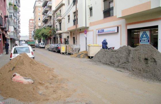 Las calles adyacentes a Niebla también se están viendo afectadas por las obras.  Foto: Belén Vargas