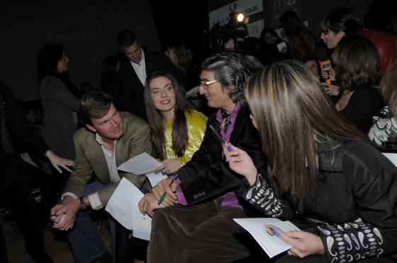 Fermín Bohorquez, Alejandra Ortiz, 'Moraíto' y María José Campanario, jurado de la Pasarela Flamenca.  Foto: M. Aranda