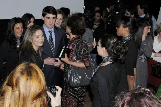 Jesulín de Ubrique, junto a María José Campanario, a su llegada a La Atalaya.  Foto: M. Aranda