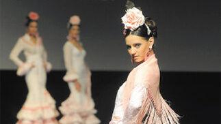 La versatilidad de los volantes y los mantones de 'Flamenca' fue espectacular.  Foto: Manuel Aranda