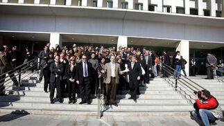 Huelga de jueces en Málaga  Foto: Victoriano Moreno