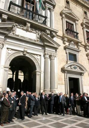 Los jueces han cifrado el seguimiento de los paros en un tercio.  Foto: Maria de la Cruz