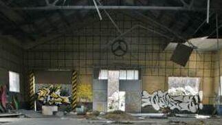 La vieja cochera del cuartel está muy deteriorada.  Foto: Miguel Rodriguez