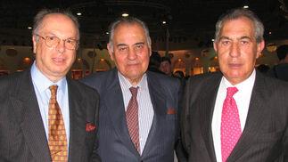 Manuel Florido y los hermanos Antonio y Francisco Domínguez Camacho.  Foto: Victoria Ramírez