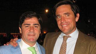 Martín Pareja-Obregón, que vuelve a los ruedos, y Eduardo Dávila Miura, retirado.   Foto: Victoria Ramírez