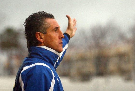 """Alejandro Ceballos, entrenador del San Roque de Lepe, no dudó un instante en afirmar que """"el equipo se ha hecho acreedor al triunfo"""".  Foto: Josue Correa"""