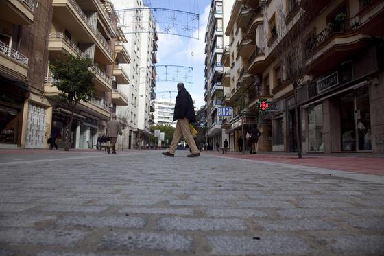 Aspecto de la parte ya concluida de la peatonalización de Asunción.  Foto: Jaime Martínez