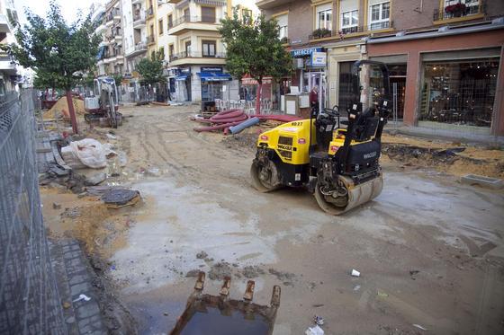 Efectos de las intensas lluvias en las obras de Asunción.  Foto: Jaime Martínez