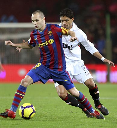 El Sevilla derrotó al Barcelona en el Camp Nou en la ida de los octavos de final de la Copa del Rey.  Foto: Reuters / Afp Photo / Efe