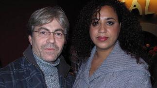 El actor José Chaves y la dramaturga Irene Golden.  Foto: Victoria Ramírez