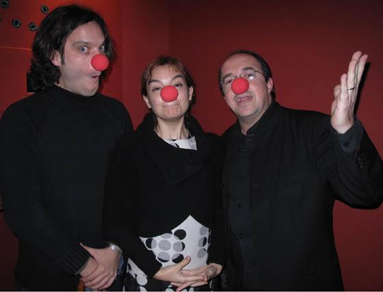 José Luis Amoscategui, Rocío de Frutos y José Carlos Carmona, miembros de junta directiva de la Unión de Actores de Andalucía.  Foto: Victoria Ramírez