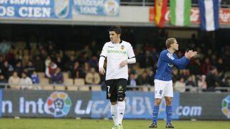 Villa no tuvo su mejor tarde, pero contribuyó para que este Valencia pueda seguir soñando con ser la alternativa a los de arriba  Foto: Pascual