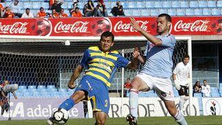 De la Cuesta anotó el gol cadista tras el descanso.   Foto: LOF