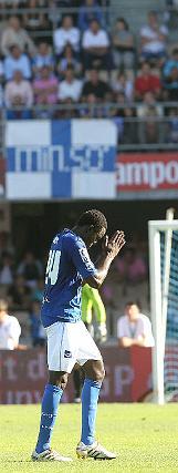 El centrocampista malí fue expulsado con dos amarillas en apenas diez minutos.   Foto: Miguel Angel Gonzalez