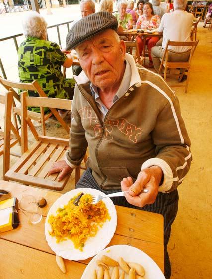 La paella fue uno de los platos del día.  Foto: Pascual