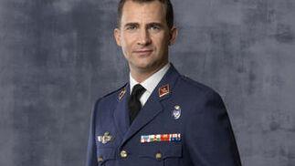 El Príncipe de Asturias, vistiendo el uniforma del Ejército del Aire.