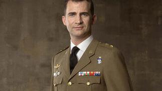 El Príncipe de Asturias, vistiendo el uniforma del Ejército de Tierra.