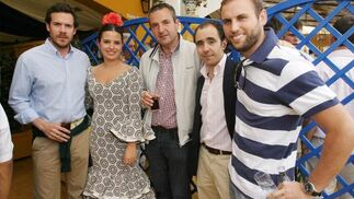 Xavier Fernández, Álvaro Bengoechea, Jorge Sastre, Rodrigo Sánchez, de Ikea, junto a Marisa López, comercial del Diario  Foto: Vanesa Lobo