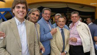Luis López Almagro, Manuel Espinosa, José Manuel Barragán, Jaime Sánchez Lacasa y Antonio López Cano.  Foto: Vanesa Lobo