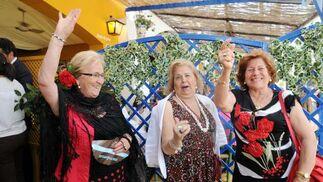 Ana Martínez de la Vega, Carmen Pelegrino Pérez y 'La Momi de Jerez'.  Foto: Manuel Mateo