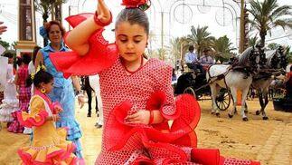 Una niña derrocha todo su arte flamenco en el Real  Foto: Pascual y Miguel ngel Gonz?z