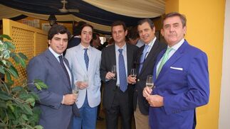 Bosco Guerrero Ruiz-Mateos, de Nueva Rumasa, junto a Juan Pedro Domecq; Juan Guerrero Pemán; Alfonso Merediz y Miguel Berraquero.  Foto: Manu Garcia
