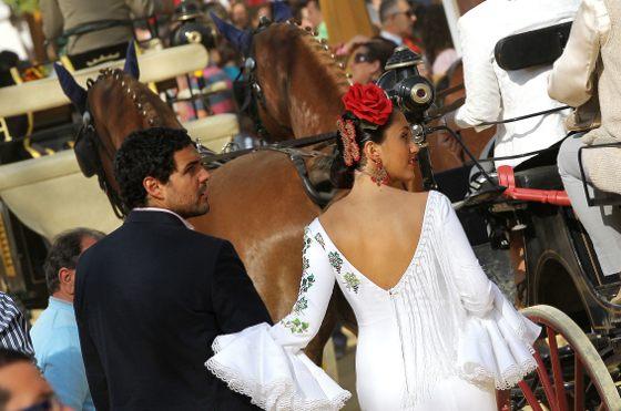 Una pareja derrocha estilo tras un enganche.  Foto: M.A. González