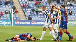 El Recreativo pierde en casa ante el Levante, uno de los aspirantes al ascenso a Primera División. / Alberto Domínguez