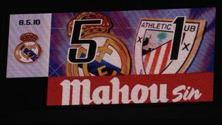 El Real Madrid cumple y golea en su estadio al Athletic. / AFP