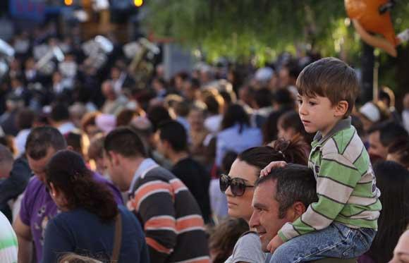 Los más pequeños vivieron con gran emoción el momento de la cabalgata./Fotos:Vanessa Pérez  Foto: Vanessa Perez