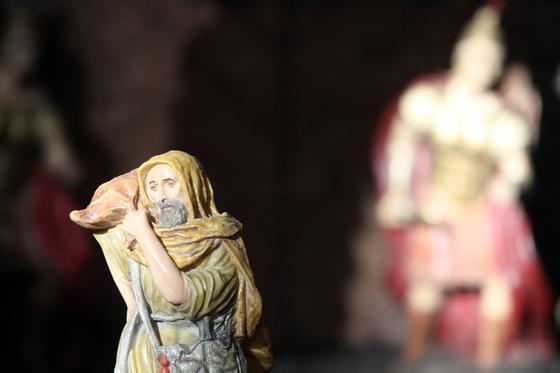 Cofradías como el Santo Sepulcro, la Esperanza o la Sagrada Cena también cuentan con montajes.   Foto: Migue Fernandez