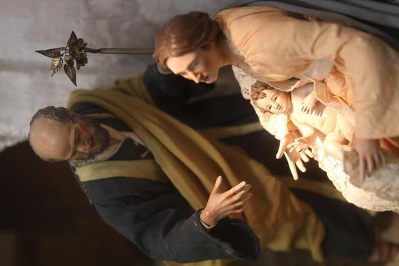El Museo Thyssen acoge el nacimiento napolitano de la cofradía de los Dolores de San Juan.   Foto: Punto Press