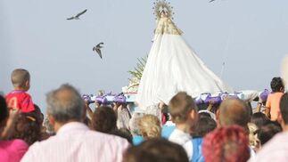Manto del la virgen del Carmen de La Línea.  Foto: Joaquín Quiñones