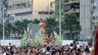 Procesión del Carmen por las calles de Algeciras.  Foto: Fran Montes