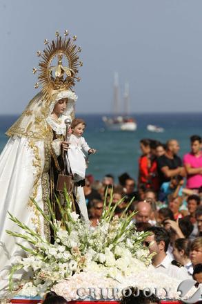 La virgen del Carmen de La Línea.  Foto: Joaquín Quiñones