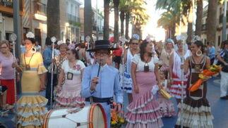 La procesión de la Virgen de Carmen en Isla Cristina  Foto: H.I.