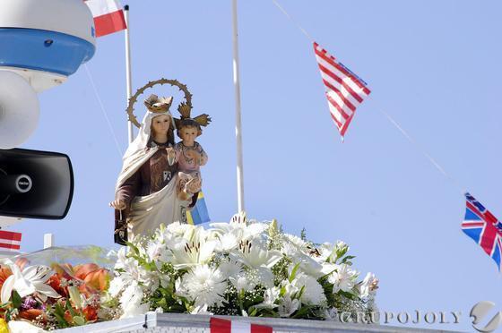 La procesión de la Virgen de Carmen en Huelva  Foto: H.I.