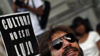 Javier Bardem, en la manifestación de Madrid.   Foto: EFE · Reuters · AFP