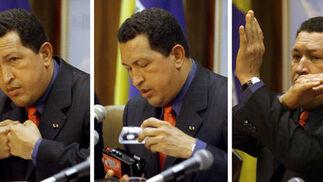 Chávez tenía una dialéctica poderosa y una gran gesticulación.  Foto: Reuters