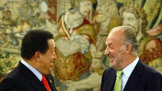 Pese a puntuales enfrentamientos, las relaciones entre Venezuela y España han sido positivas durante la presidencia de Chávez.  Foto: Reuters