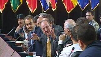 El famoso momento en el que el Rey calla a Chávez en la Cumbre Iberoamericana de 2007.  Foto: EFE
