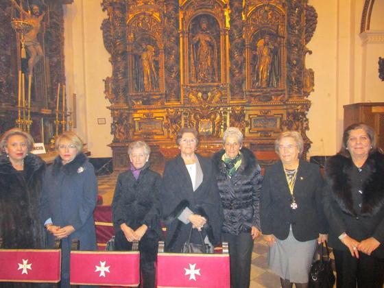 Lola Jurado, Carmen Pacheco, Concha Baleyron, Charo de Cos, Nena Pascual, Encarna Suero y Pepita Muñoz.