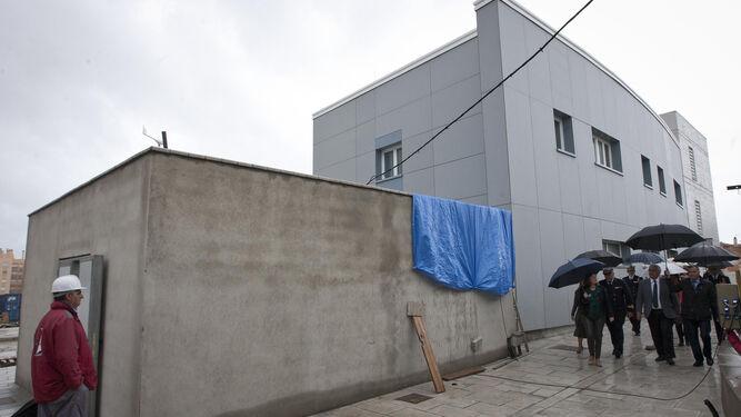 Edificio de la Hora en construcción visto desde el exterior.