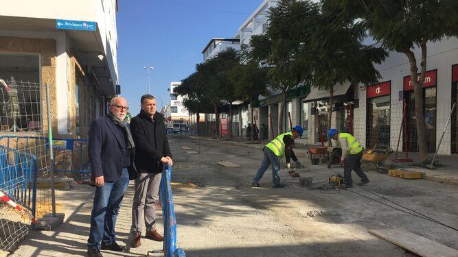 El alcalde y el concejal de Urbanismo realizaron una visita a las obras.